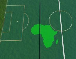 Africa bite football center by Skrabalo