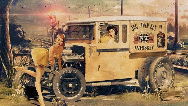 Jack Daniel's Pin-up Advertising by Aste17