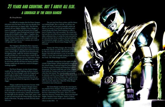 InDesign - Green Ranger DoubleSpread Article by Konack1
