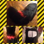 Black and red bobcat fursuit tail  SOLD  by Zackazi