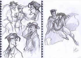 Joker and Superman Sketches by Sandora