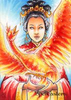 Spellcasters Sketch Card - Amy Clark 3 by Pernastudios