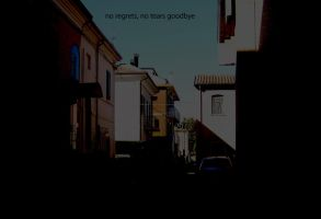no regrets, no tears goodbye by violent-stranger