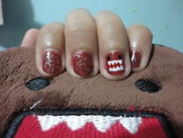 Domo Kun nails by blackyuna