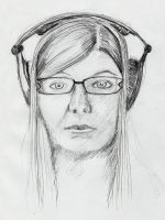 Headphone portrait by purecoincidence