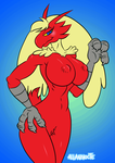 [Animated] Blaziken Wink! by AllanNocte