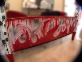 Spray Paint Bed Frame 3 of 6 by ADDanny
