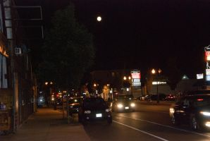 2014 Super Moon, City Street 2 by Miss-Tbones