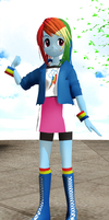 MMD- EQG Rainbow Dash by luckygirl88