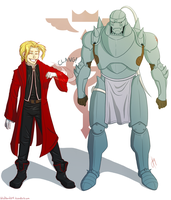The Elric Brothers by blindbandit5