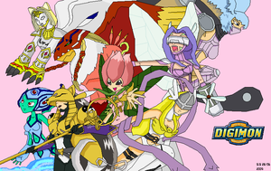 2004 Digimon girls by EmeraldSora