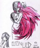 elfen lied a color by MiniVaale