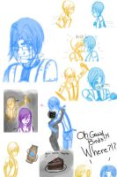 Ask GlaDos/Wheatley Sketchdump~ by foxy-chan22