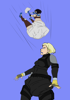 Kitana vs. Cassie Cage (Commission) by LillyOnymous