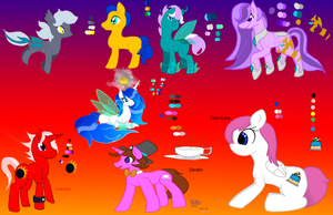 My Little Pony Characters by katehedgehog