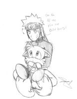 Naruto and Tails by idolnya