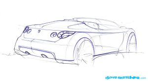 Nissan Convertible Sketch by ecco666