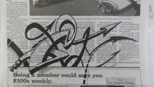 Sharpie on Newspaper by PinstripeChris