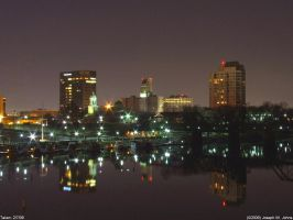 Augusta at night by Joseph-W-Johns