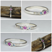 ruby and diamond ring size O by WallaceReg