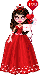 Valentine's Day Theme Pixel Art Doll by Sleepy-Stardust