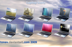 Laptop icons 1 by tonev