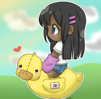Mr.Ducky and Aiko by Lisey-Chu