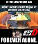 Initial D Lonely Drivers Club FOREVER ALONE by DarrenOfTheShan