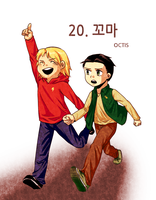 Little Human Thor and Loki by OCTISquad