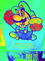 Mario Poster (Thermal) by UKD-DAWG
