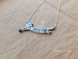 Chester the Cat - Pewter Steampunk Necklace by IkushIkush