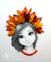Autumn girl by SvetlanaSigunina