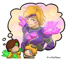 Armor of the Fifth Age Ezreal by KittyConQueso