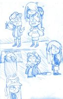 Gravity Falls sketches by SkiM-ART