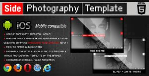 HTML5 Side Photography Template by flashdo