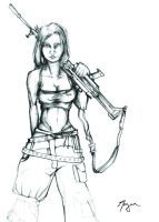 Fallout Girl Sketch by WormDog1
