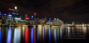 Darling Harbour Night Skyline by FireflyPhotosAust