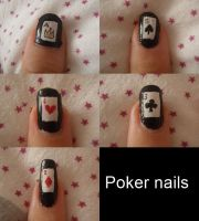 Poker nails by Bakeneko14
