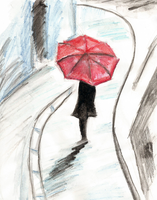 Girl in the rain by MYeARTh14
