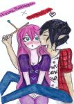princess bubblegum and marshall lee by NENEBUBBLEELOVER