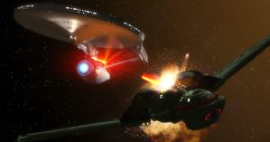 Klingon Battle by okan1701