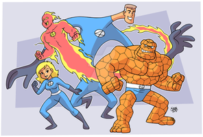 Fantastic Four by BezerroBizarro