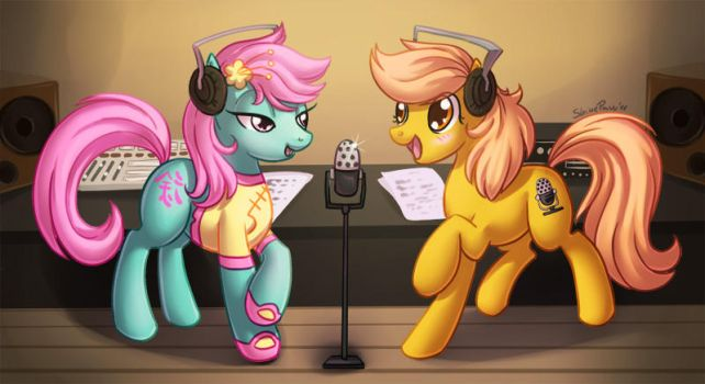 In the studio commish by ShinePawPony