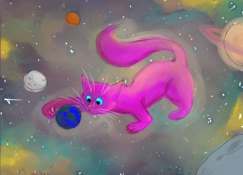 Space Cat by MistressOfMesses