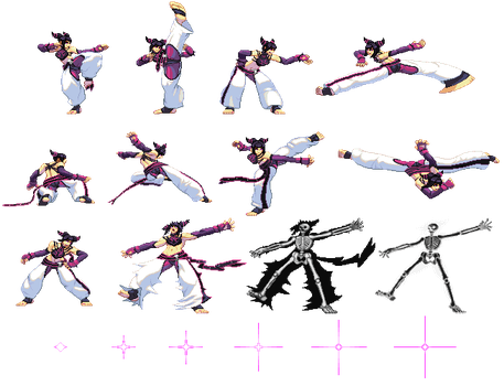 Juri sprite sheet (SF3 style) by RieyTails
