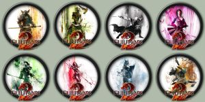 Guild Wars 2 Professions Icon Pack by kodiak-caine