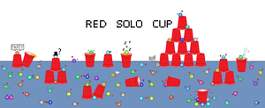 Drunken Crowd - Red Solo Cup contest by ChaosBlacke