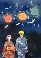 NaruSaku: Beneath the Lantern's Light by MiraiMangaka