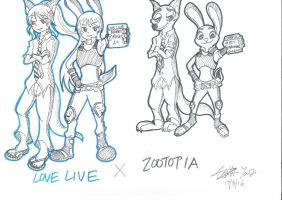 Love Live X Zootopia by shade1995