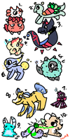 Doodle Adopts 4 //aksudgs////Closed// by Teem0-Bound